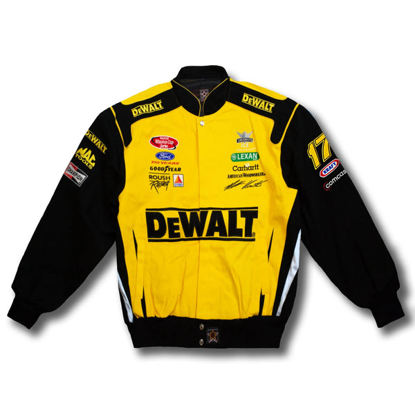 Vintage Matt Kenseth 17 NASCAR Roush Racing Dewalt Race Jacket.