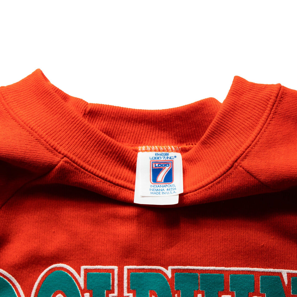 Discount Vintage Miami Dolphins Sweatshirt 1980 1990's  free shipping