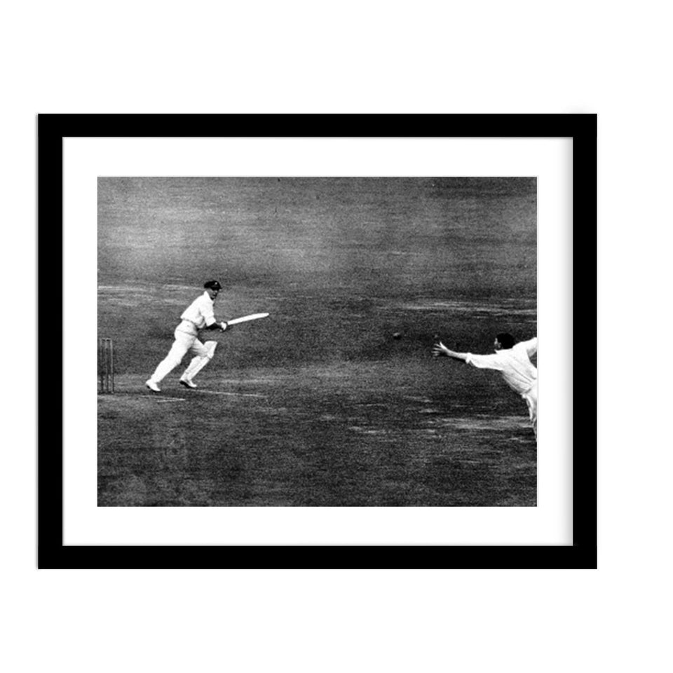 Don Bradman Cricket Framed Vintage Photo Framed
