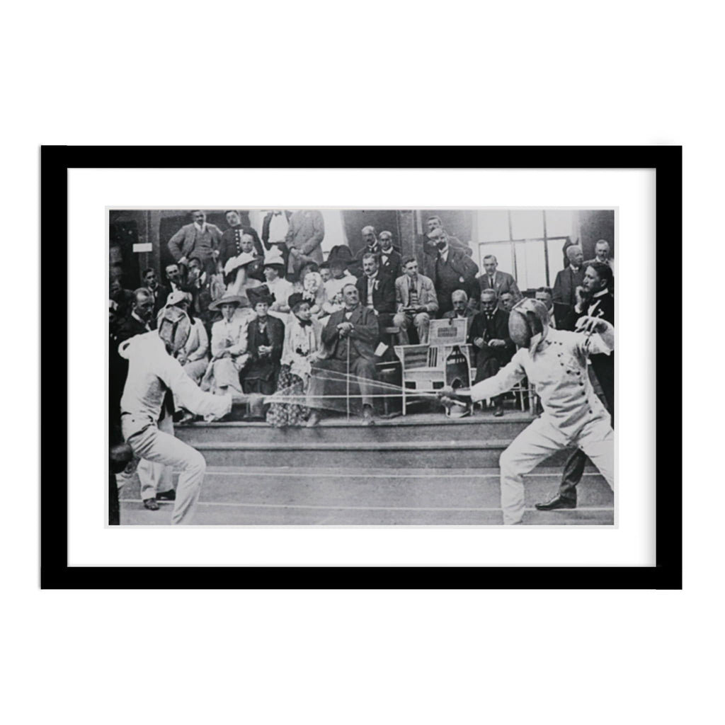 Vintage 1912 Olympic Fencing Picture