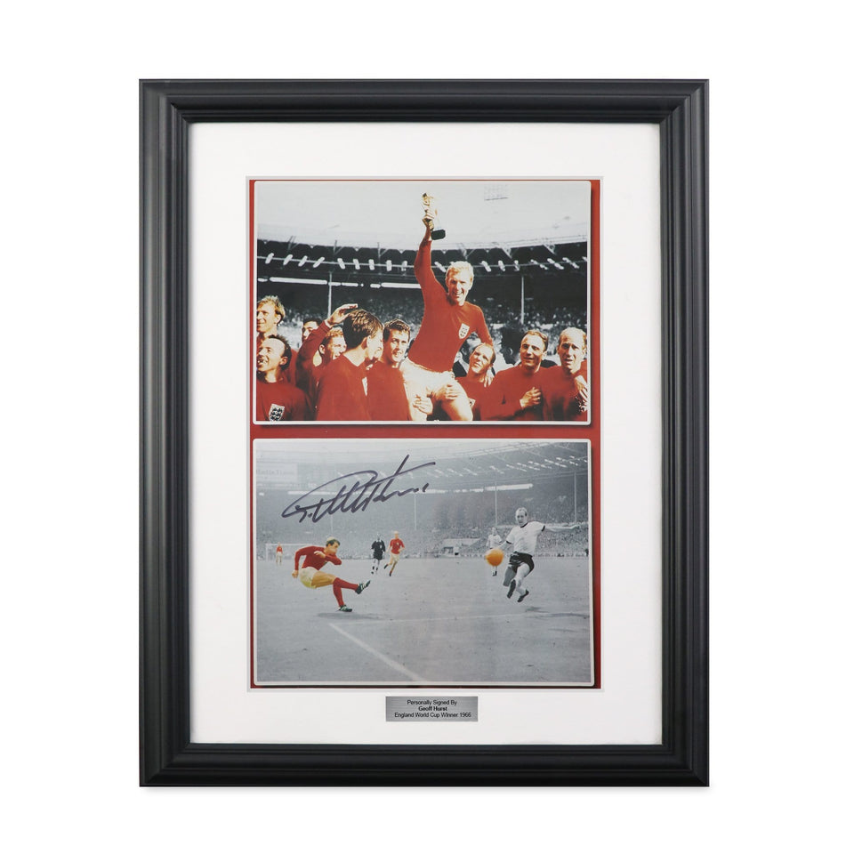 1966 World Cup Sir Geoff Hurst Photo Montage Signed