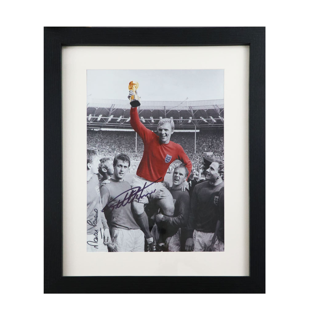 England World Cup Victory Photo Signed by Sir Geoff Hurst and Martin Peters Framed