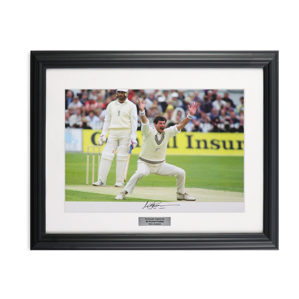 Sir Richard Hadlee Signed Framed Photograph New Zealand Cricket Legend