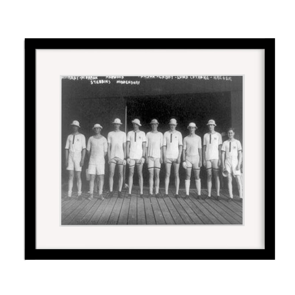 Harvard University Crew Team Vintage Uniforms Framed Vintage Print
