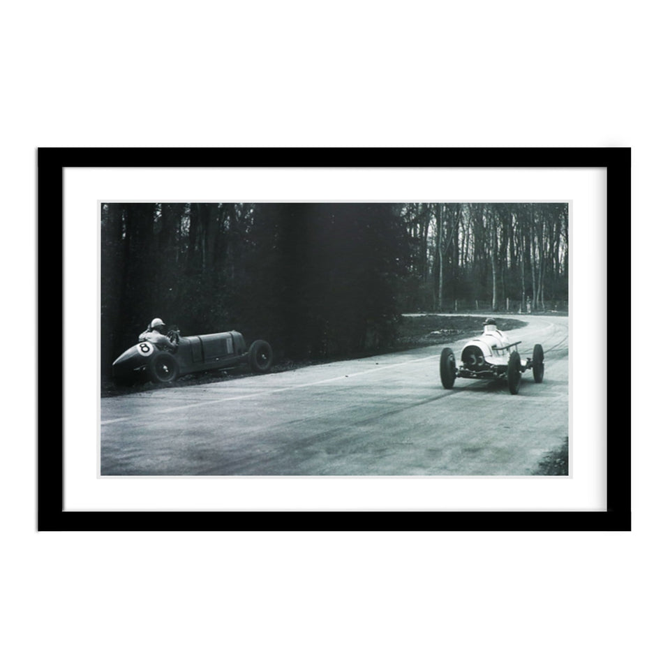 Hector Dobbs 1935 Vintage Car Race Donington Park Framed Photograph