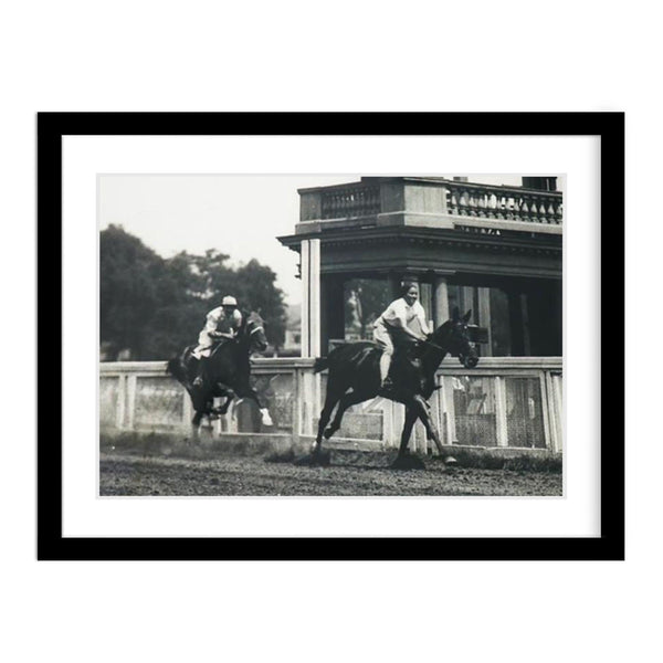 Vintage Vogue Horse Racing Photo Framed