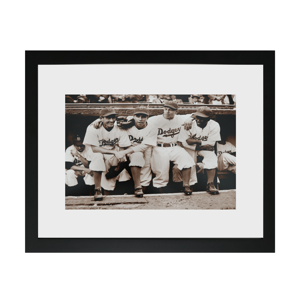 Jackie Robinson's First Game Framed Photo