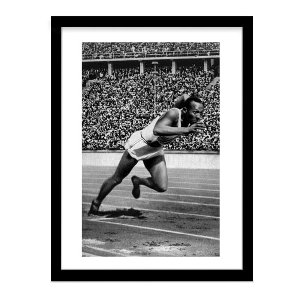Jesse Owens Sets Olympic Record at Berlin Olympics