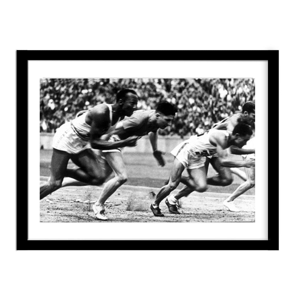 Jesse Owens Gold Medal Runner Vintage Track Photo