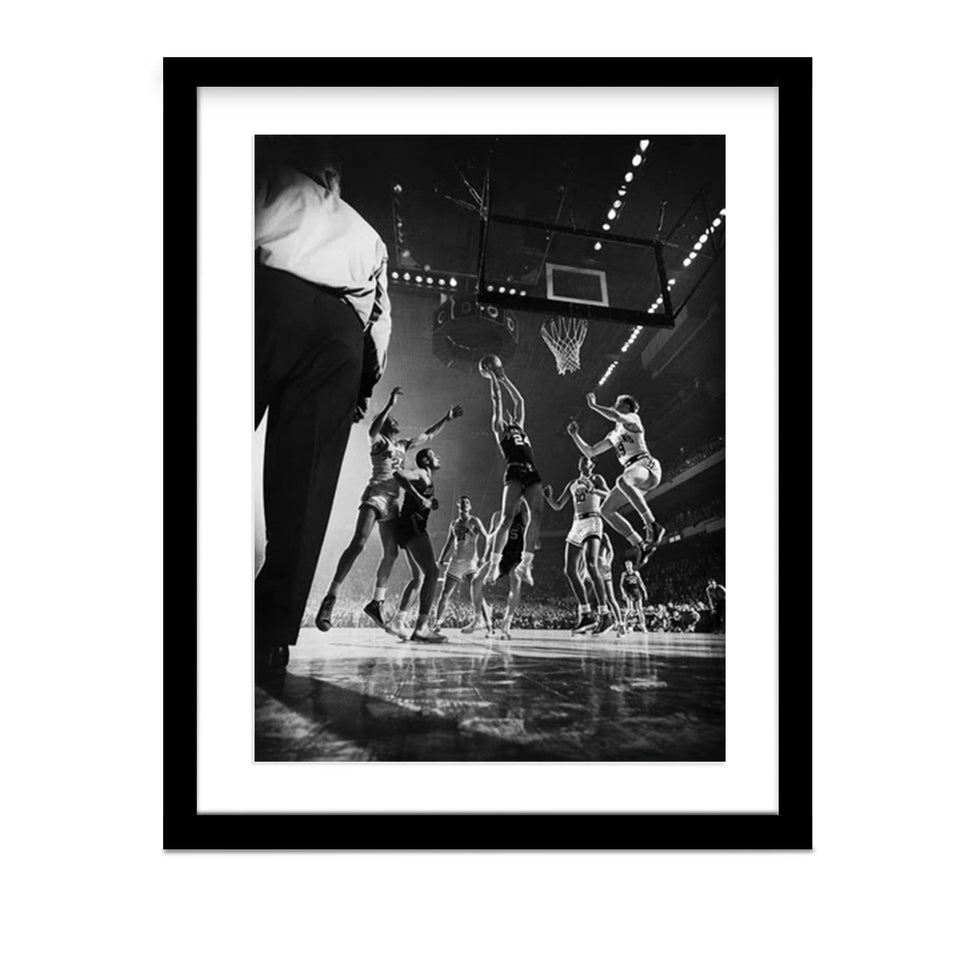 Jump Shot at Madison Square Garden Framed Photo