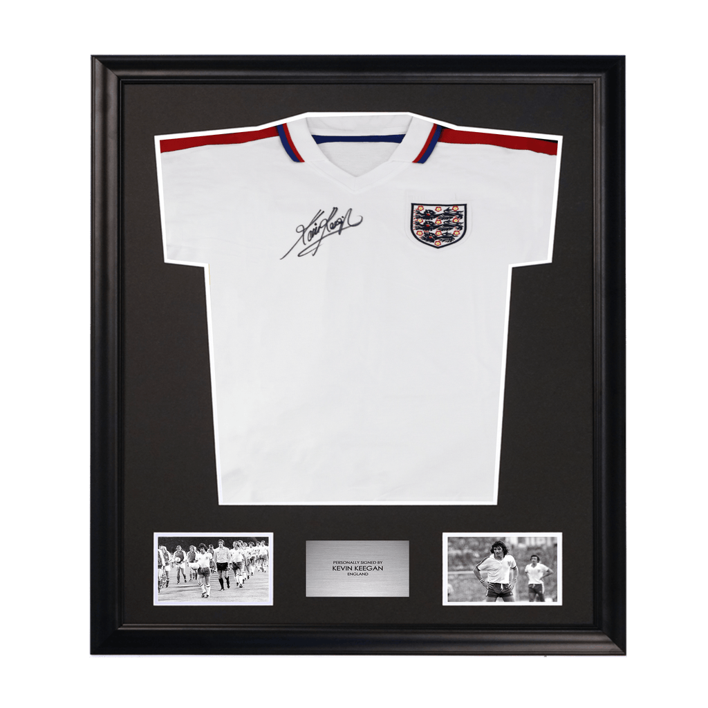 Kevin Keegan Signed England Shirt Framed