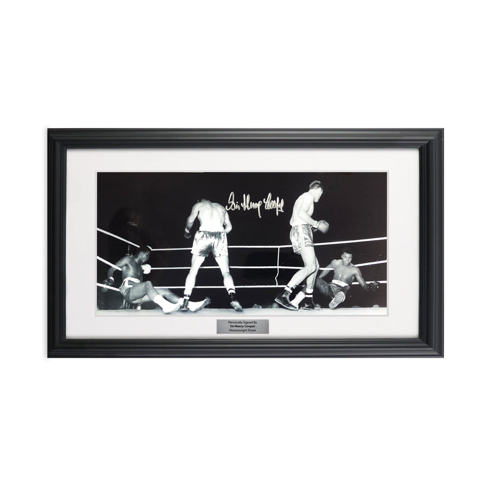 Henry Cooper Autographed Framed Picture