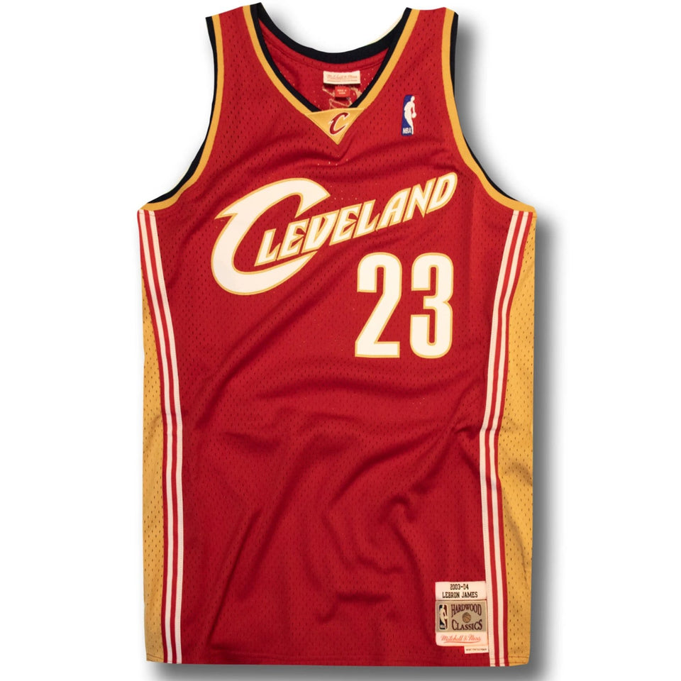 on sale 6db81 0c2c3 LeBron James Cleveland Cavaliers Hardwood Classics Jersey