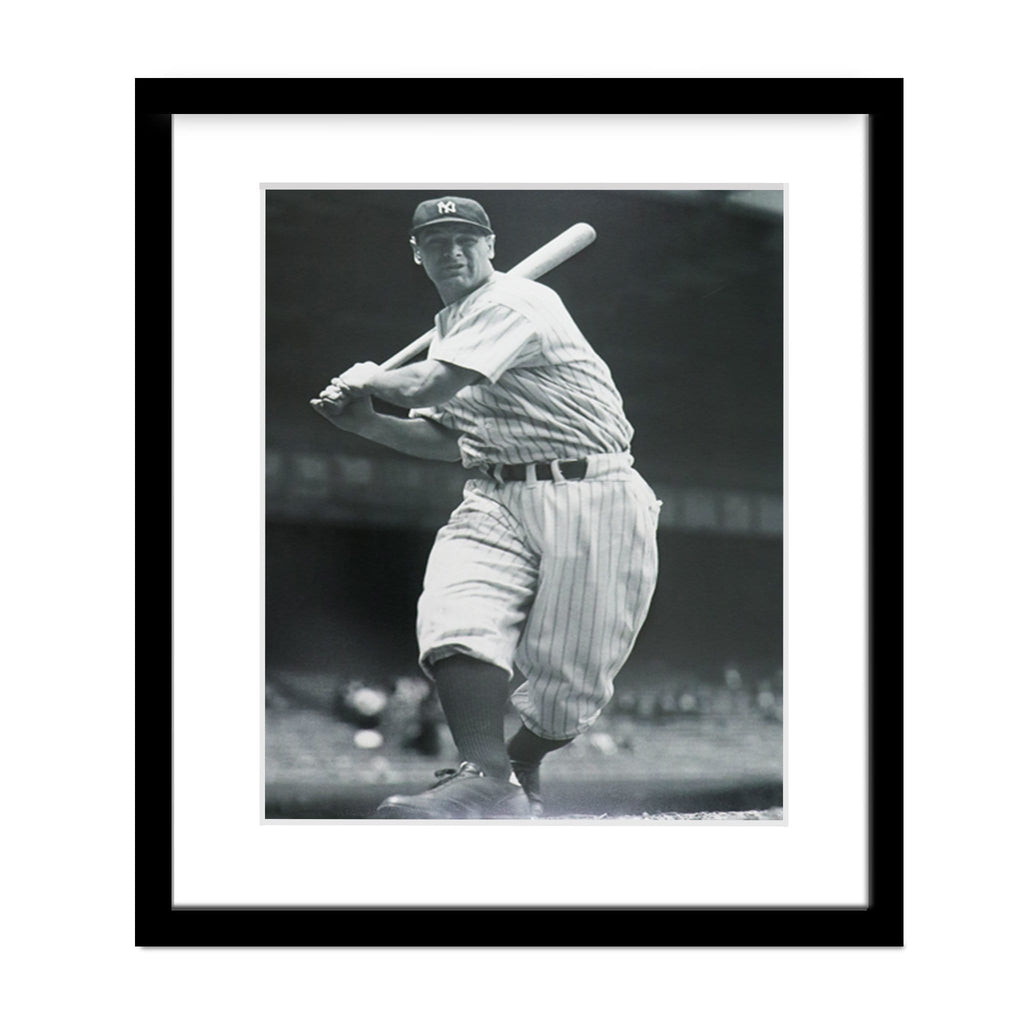 Lou Gehrig Homerun Hero Framed Photo