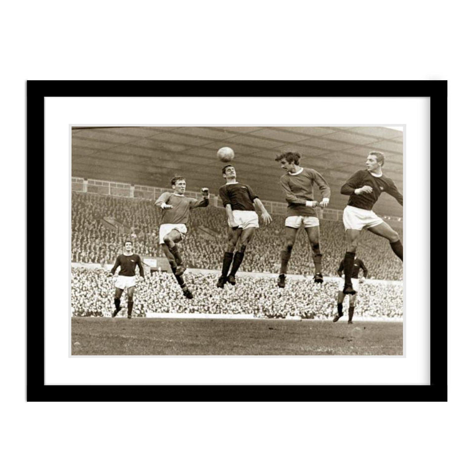 Manchester United & Arsenal Play at Old Trafford in 1967 Framed Photo