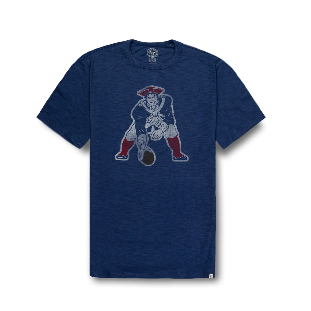 Blue New England Patriots Short Sleeve T Shirt