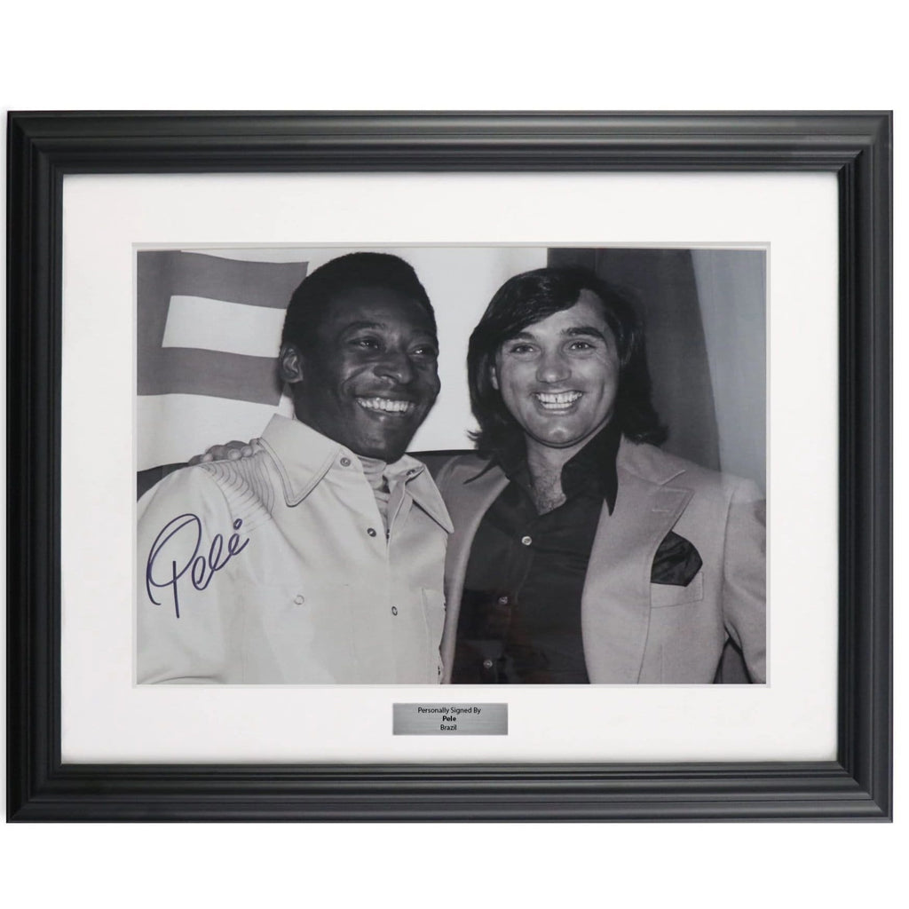 Pele and George Best Framed Photo