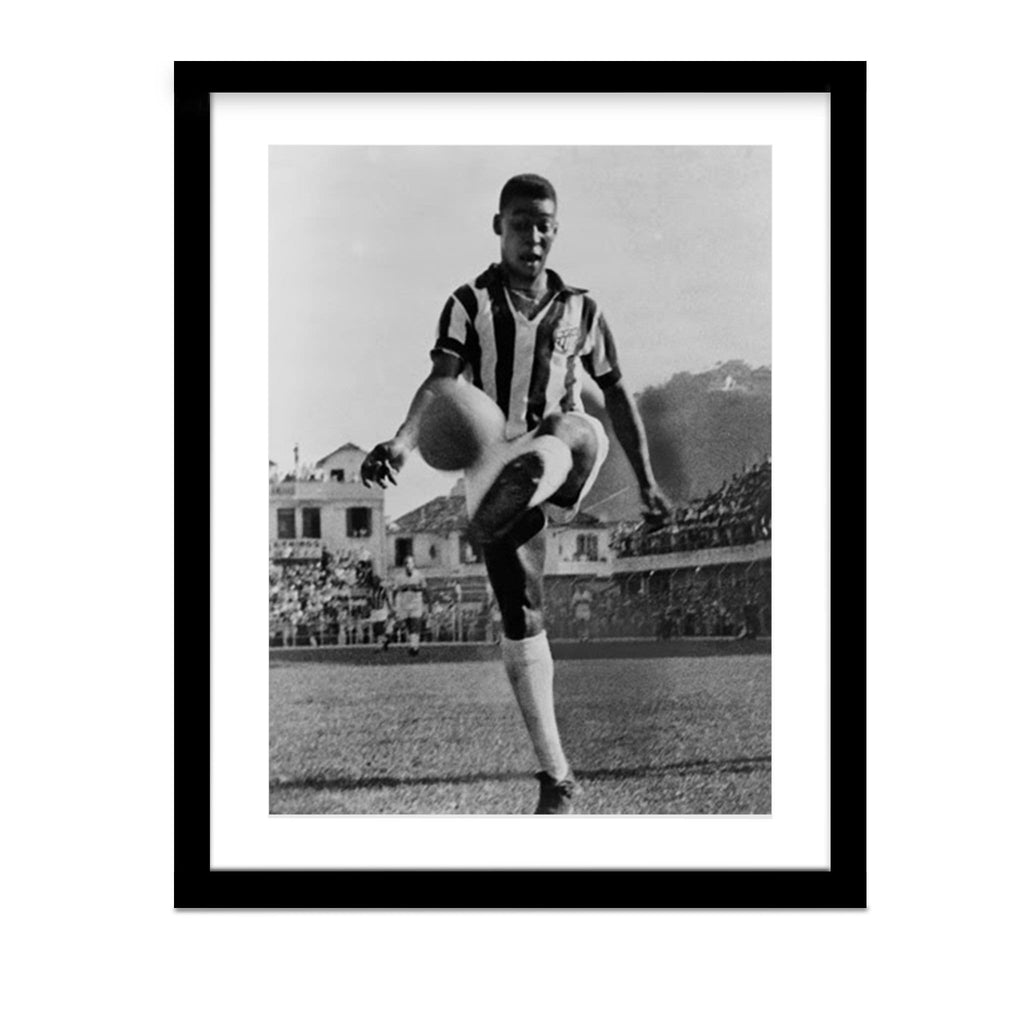Pele - Fancy Footwork Framed Photo