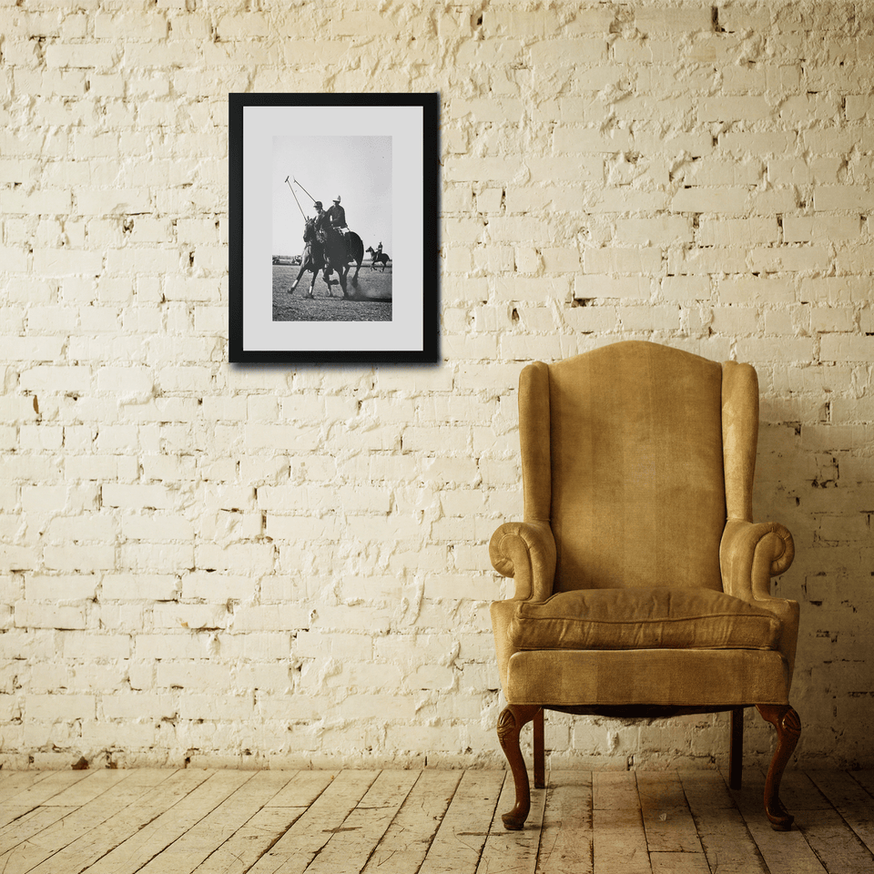 Vintage Polo Horse Framed Photo