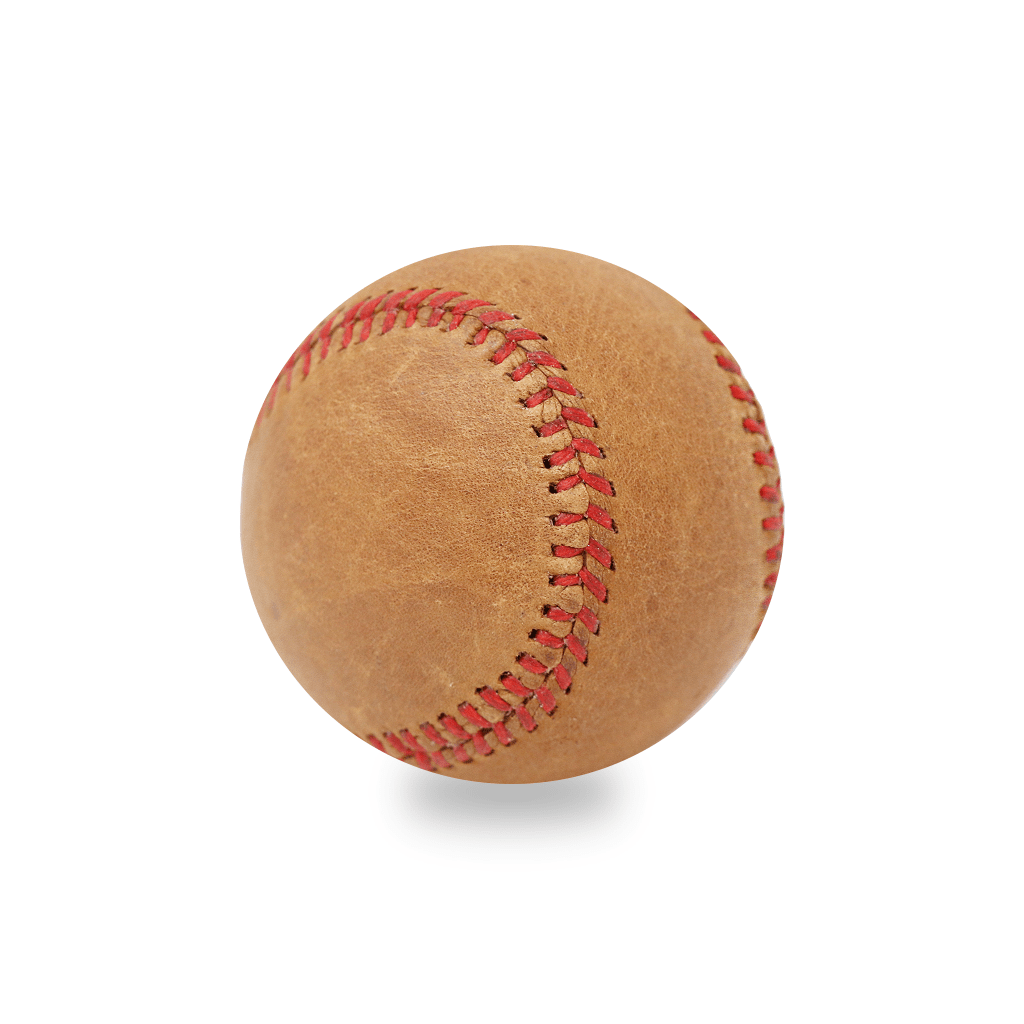 Vintage Leather Baseball with Red Stitching