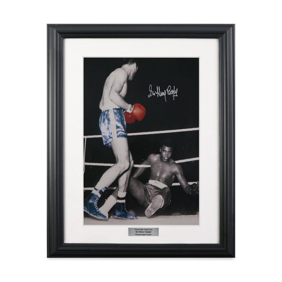 Henry Cooper Signed Colourised Ali Photo