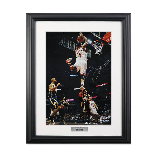 Derrick Rose Alley-Oop Dunk Signed Picture
