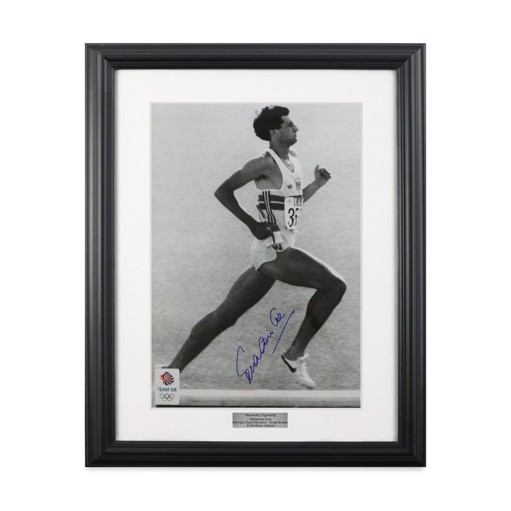 Lord Sebastian Coe Signed Framed Photo