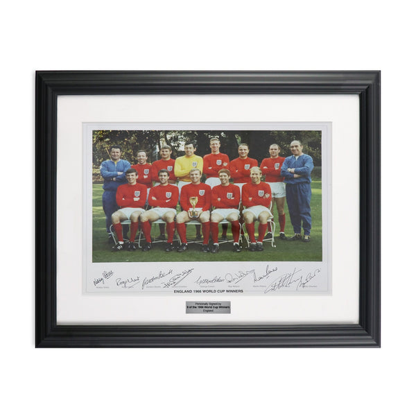 England World Cup 1966 Winning Team Autographed by 9 Players, Framed