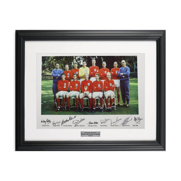 1966 England World Cup Signed Photo by 9 of team players