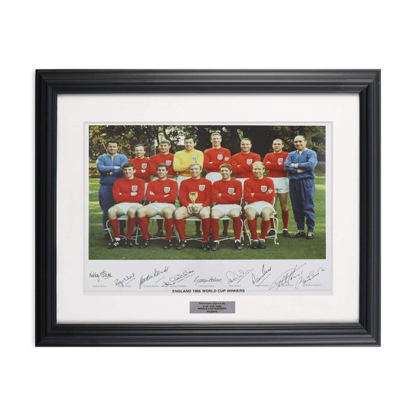 1966 World Cup England Team Photo Signed by 9 Players