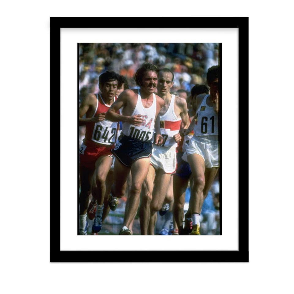 Steve Prefontaine 1972 Olympic Framed Photo