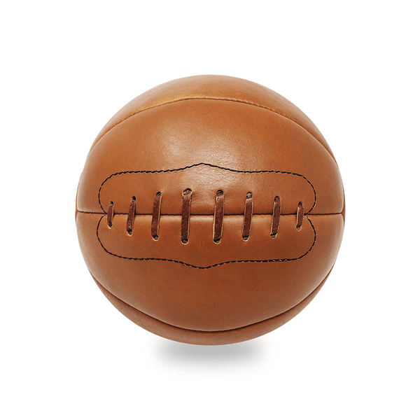 Vintage Leather Medicine Ball - 12lb Tan Leather