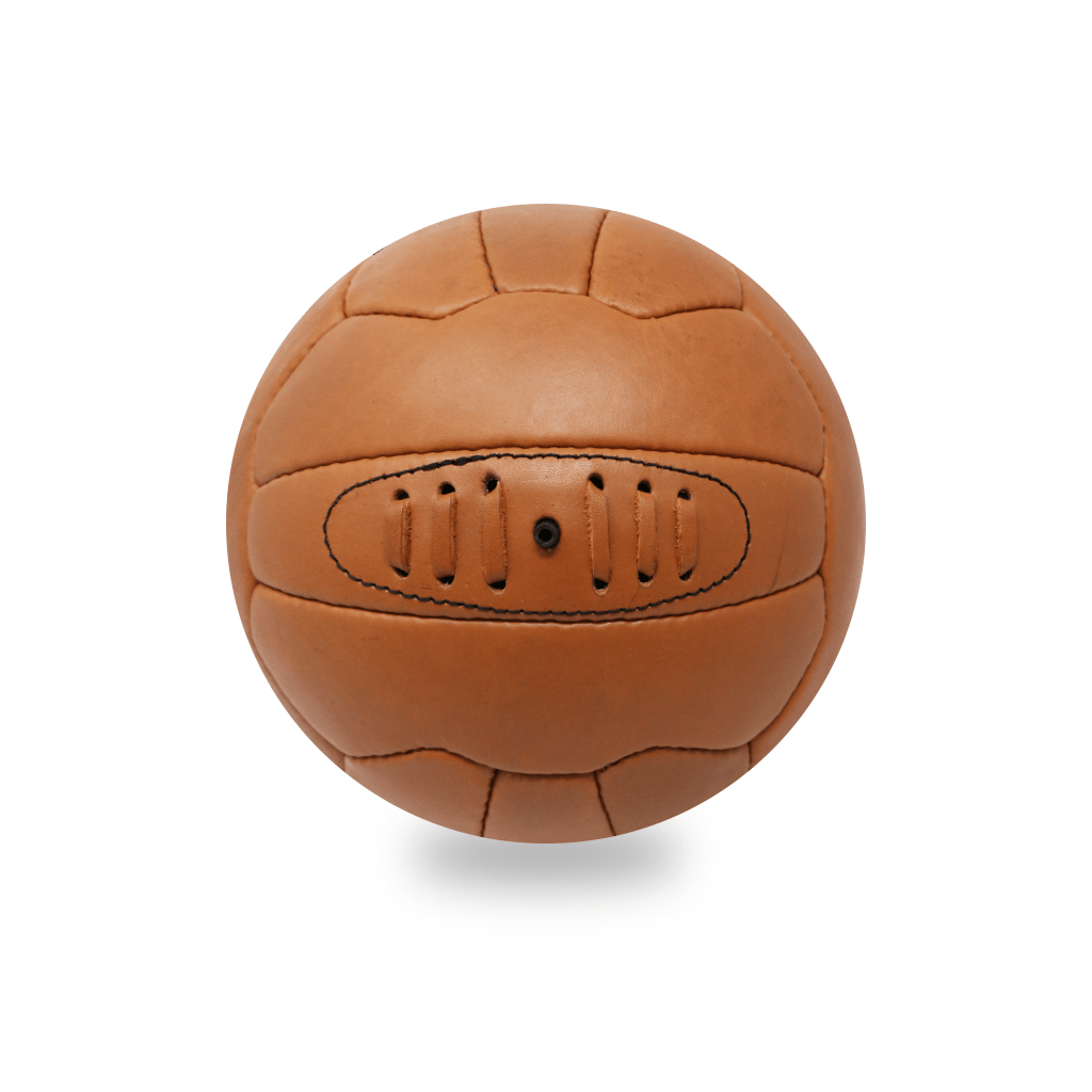 Vintage Leather Soccer Ball - Tan 18 Panel