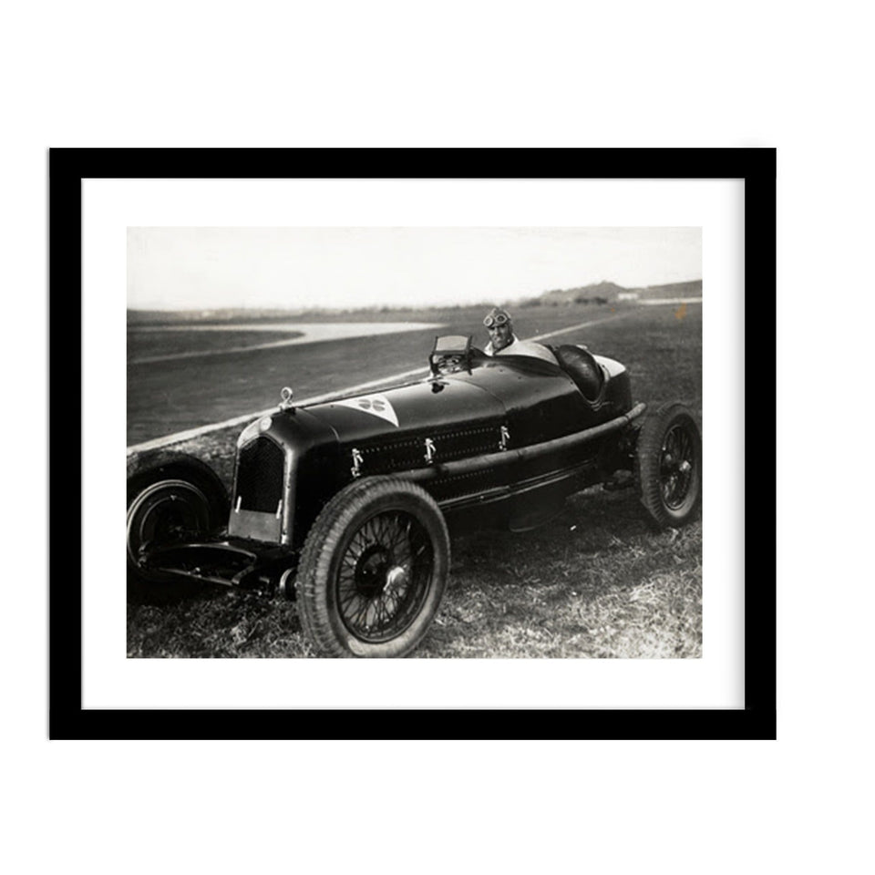 Tazio Nuvolari Classic Car Vintage Motorsport Photo