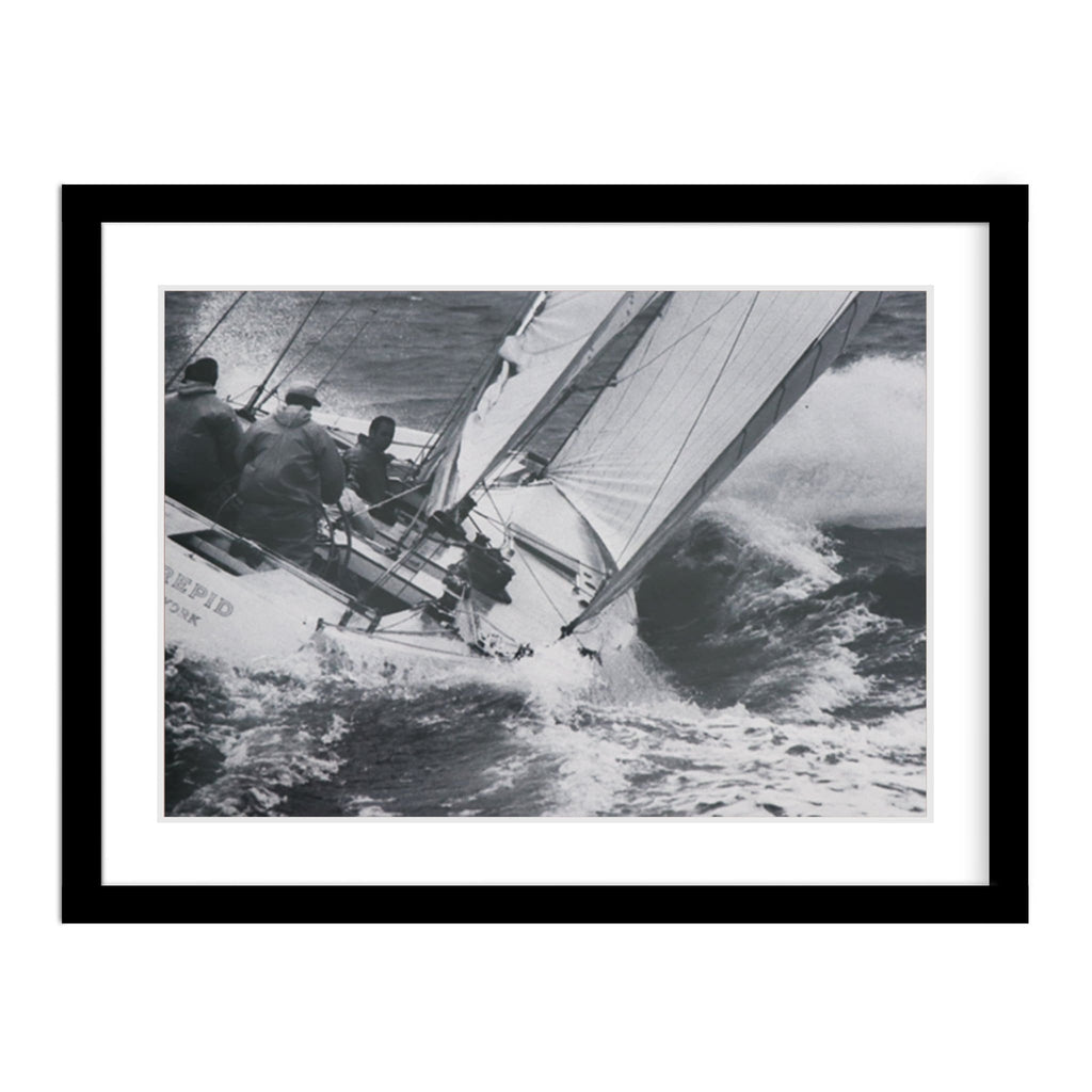Intrepid Framed America's Cup Photograph