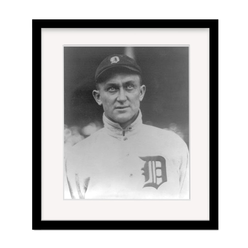 Ty Cobb Hall of Famer Framed Baseball Photo