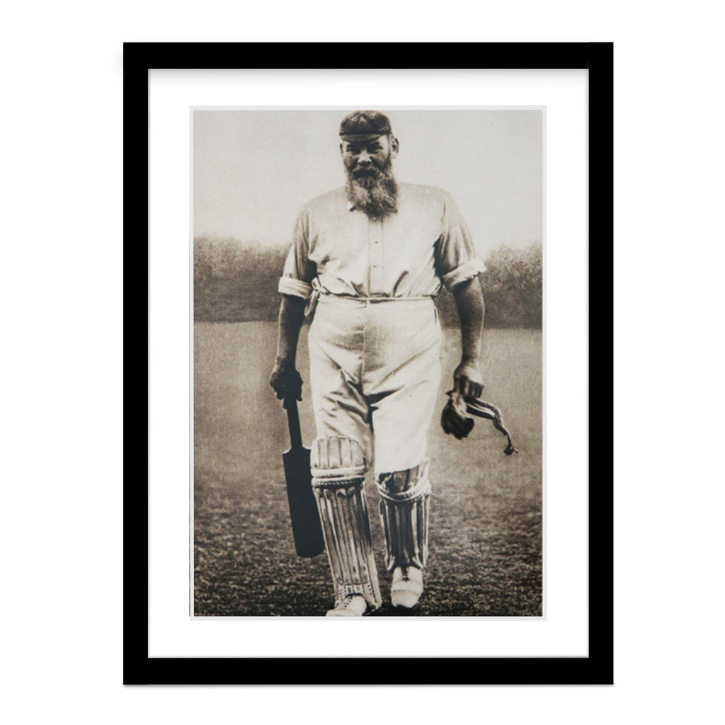 Old W.G. Grace Vintage Batting Photo