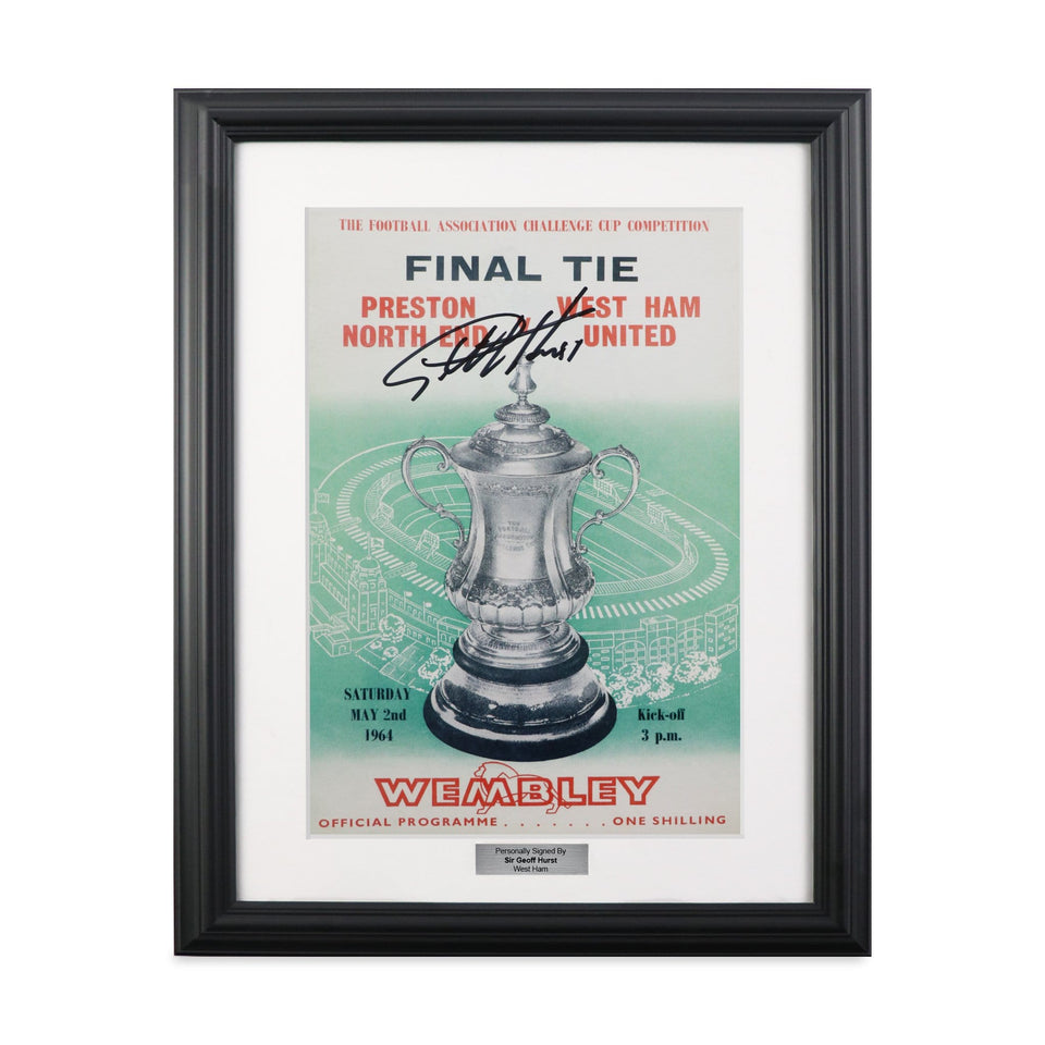 West Ham 1964 FA Cup Final Programme Signed Sir Geoff Hurst