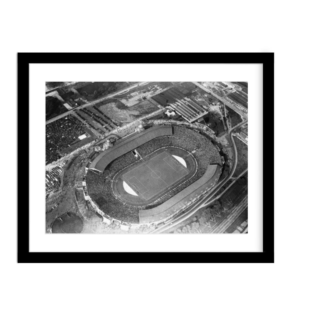 Wembley Stadium Aerial View Vintage Framed Photograph
