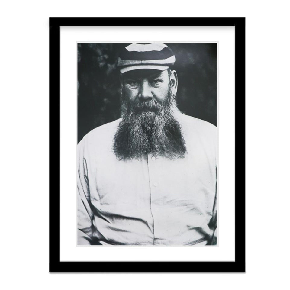 W.G. Grace Cricket Vintage Framed Portrait Photo