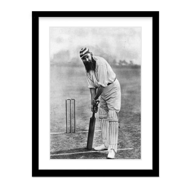 Vintage W.G. Grace Cricket Framed Photo