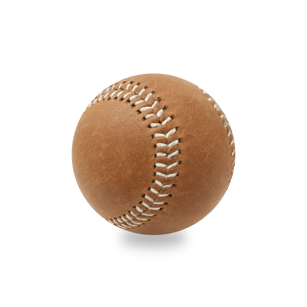Vintage Leather Baseball with White Stitching