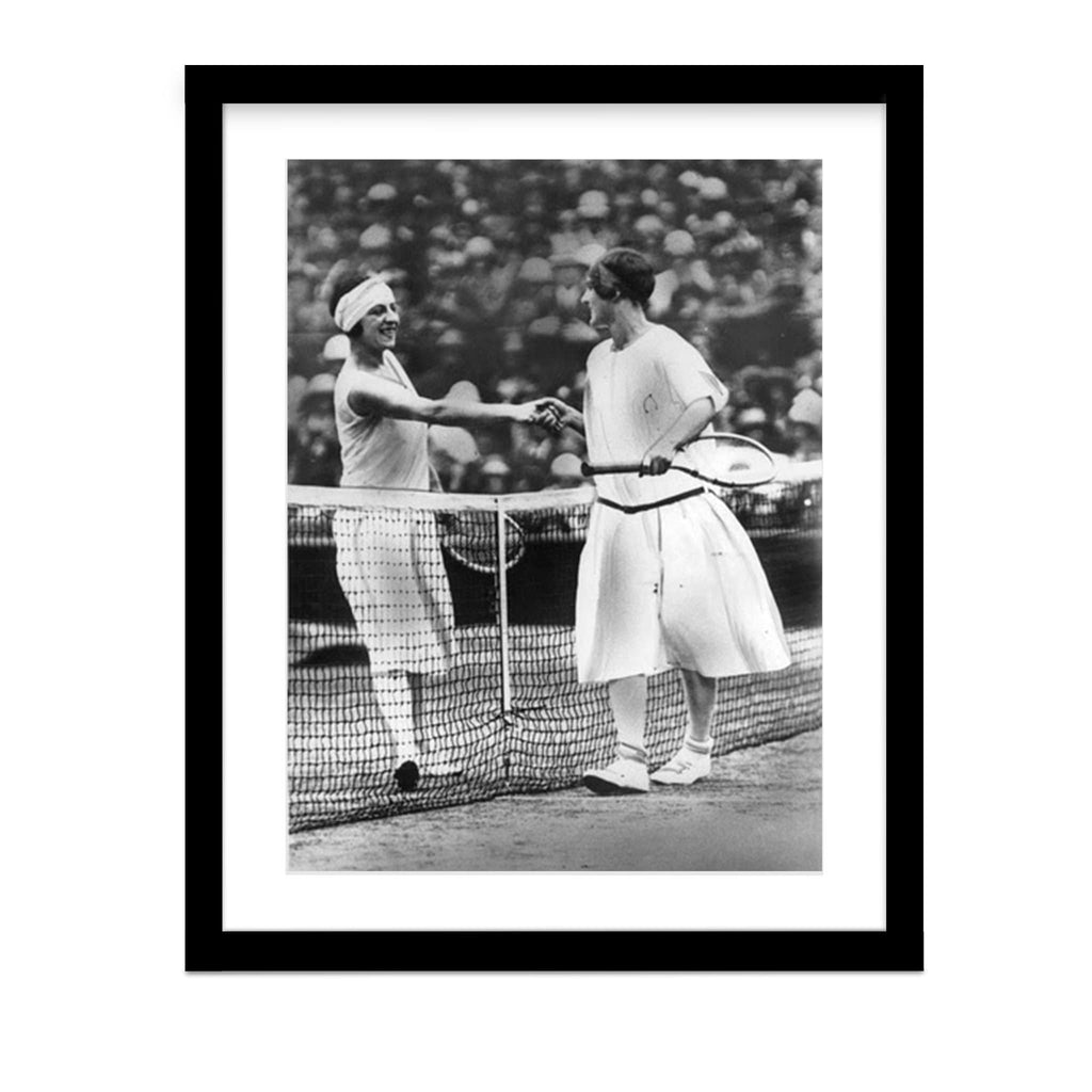 Miss Fry and Suzanne Lenglen 1925 Wimbledon Final Vintage Photo