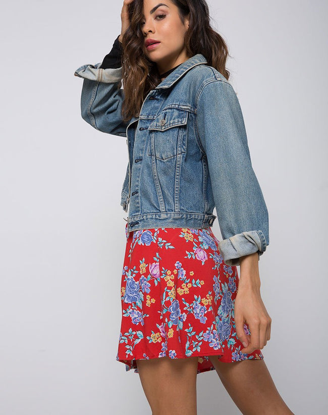 Andrea Skater Skirt in Vintage Fleur by Motel