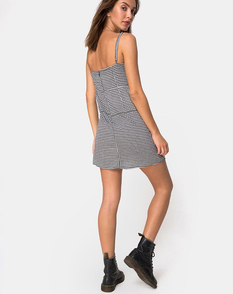 Boyasly Slip Dress in Small Dogtooth by Motel
