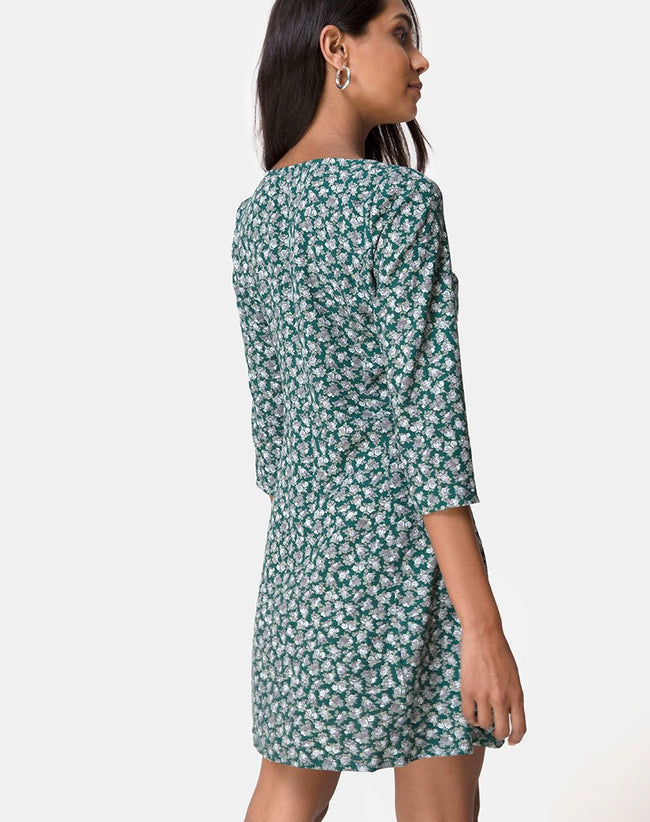 Camdy Dress in Floral Bloom Green by Motel