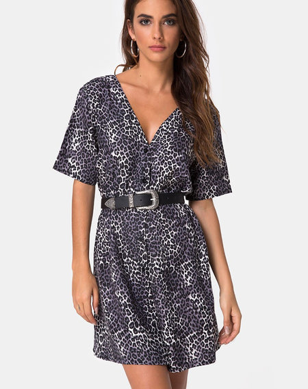Gaval Mini Dress in Stars Struck Navy by Motel