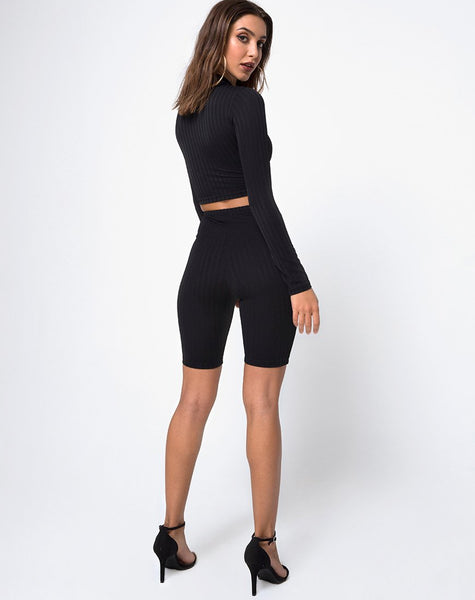 Cycle Short in Black by Motel