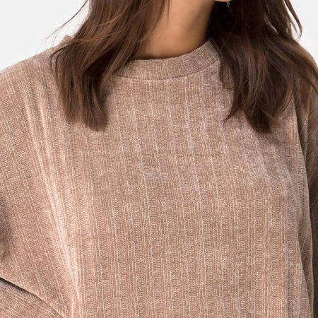 Dad Jumper in Chenille Tan by Motel