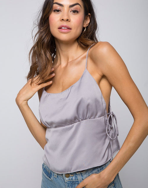 Daral Cami Top in Silver by Motel